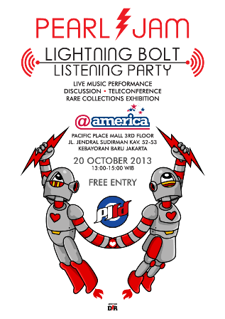 Lightning Bolt Listening Party (poster oleh Davro)