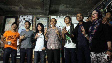 Slank Deklarasikan Dukungan pada Capres Jokowi