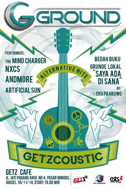 Poster Getzcoustic (desain oleh Roel)