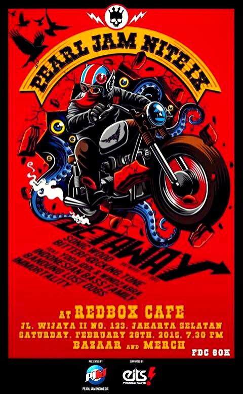 """Poster """"Pearl Jam Nite IX: Getaway"""" (desain oleh Roel)"""